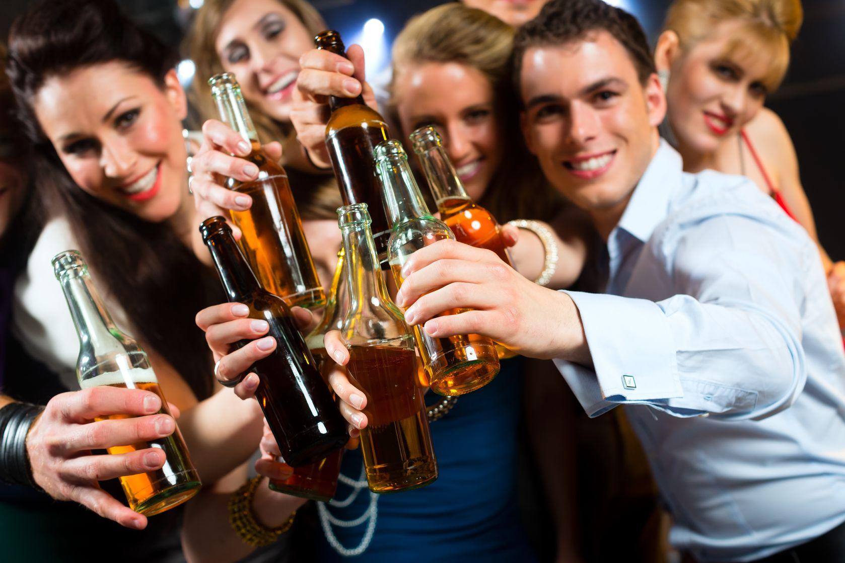 Group Of People Having Fun In Busy Bar Stock Photo - Image ...  |People Having Fun In A Club