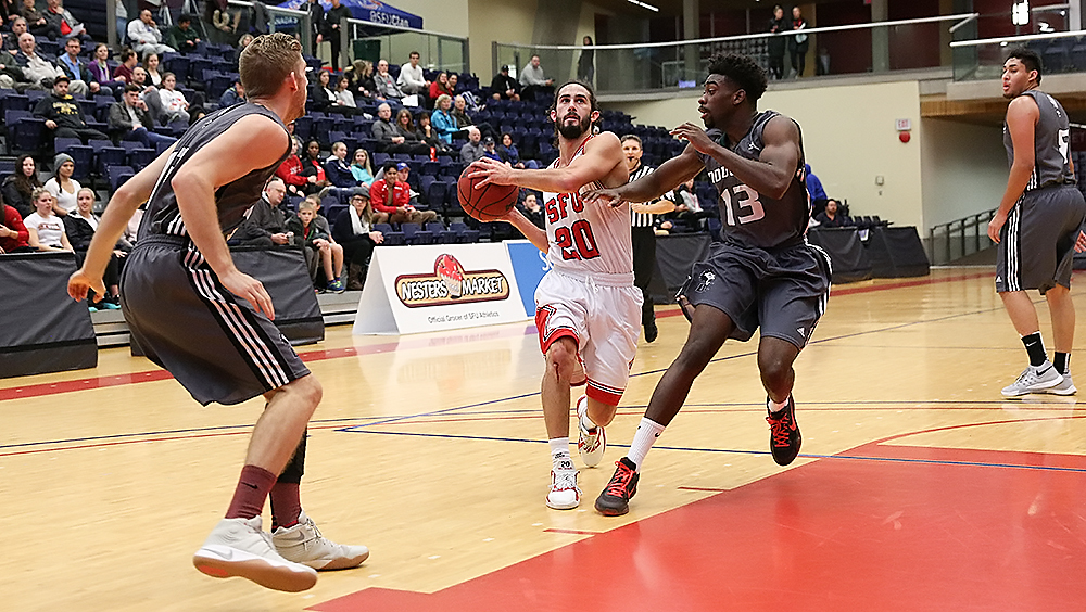 Men's basketball dominates in first exhibition game | The Peak