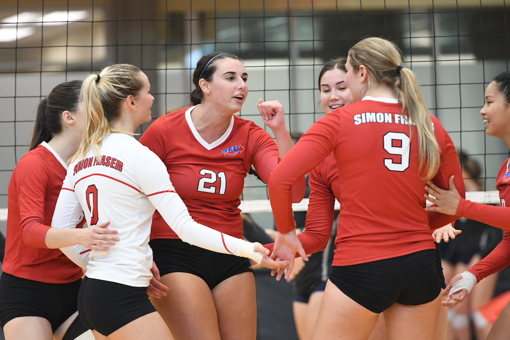 SFU women's volleyball win home opener against MSUB | The Peak