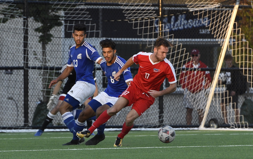 SFU men's soccer defeat Slippery Rock University 1–0 | The ...