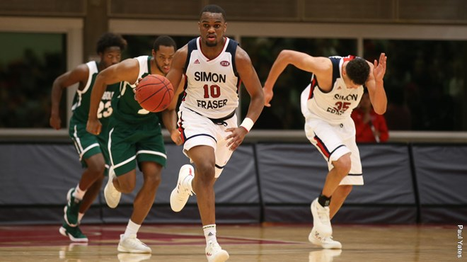 SFU men's basketball team play exciting season opener ...