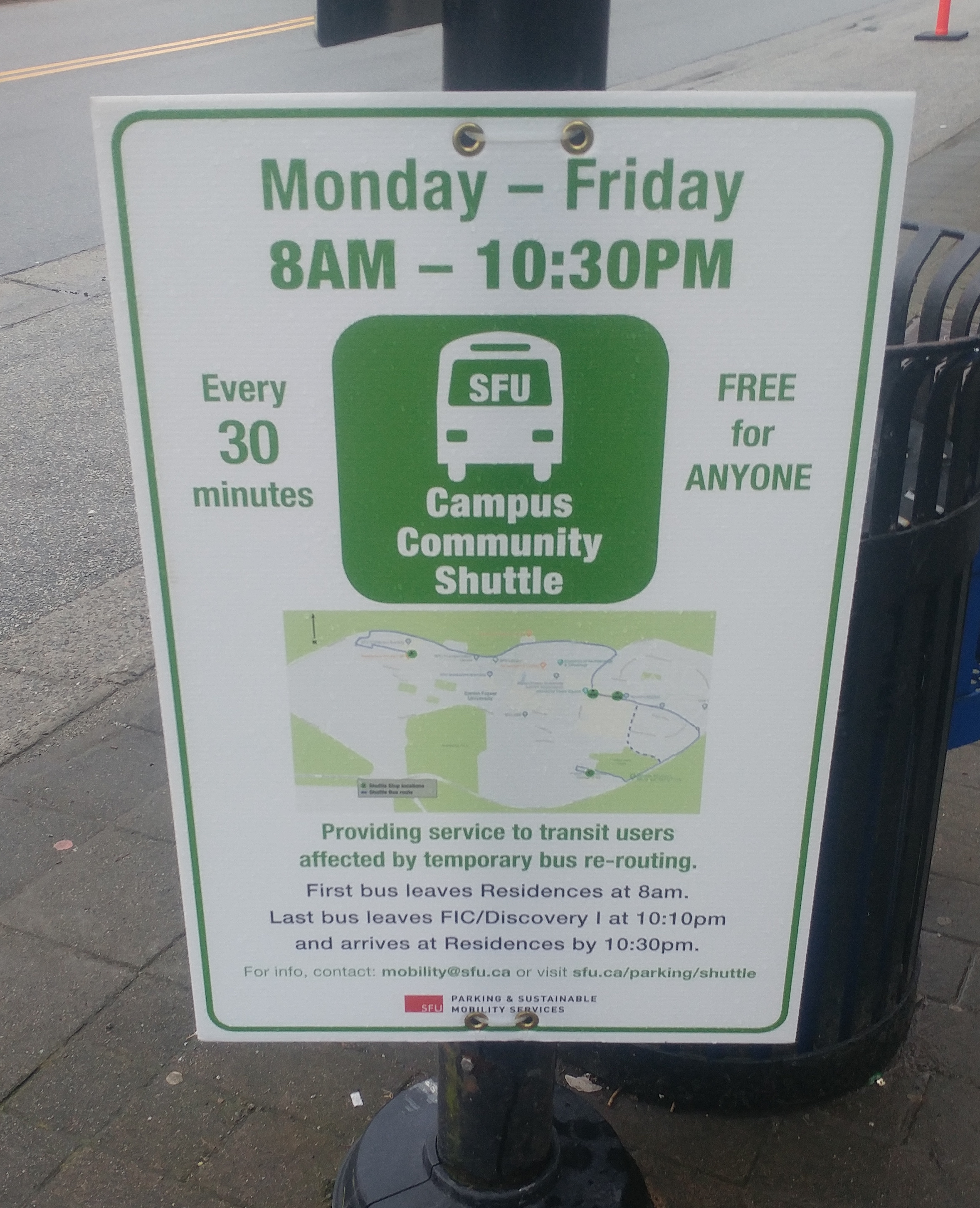 SFU launches free shuttle service around Burnaby campus