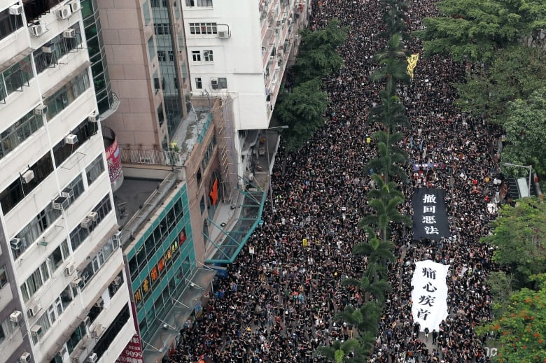 Protestors push Hong Kong flag raising ceremony indoors