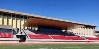 SFU Stadium from Terry Fox Field